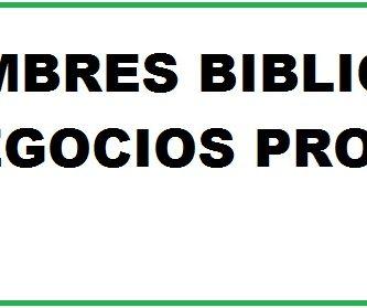 nombres biblicos para negocios prosperos